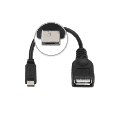 Cable USB 2.0 otg micro A/M-A/H 0.15 M Negro