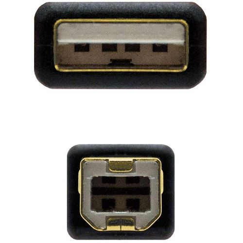 Cable USB 2.0 para impresora con ferrita 5 M Negro