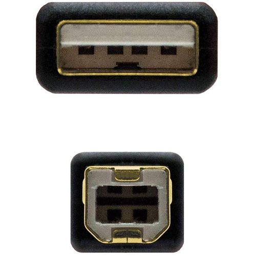 Cable USB 2.0 para impresora con ferrita 2 M Negro