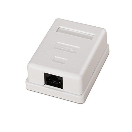 Caja de superficie de 1 RJ45 Cat 5e FTP  Blanco