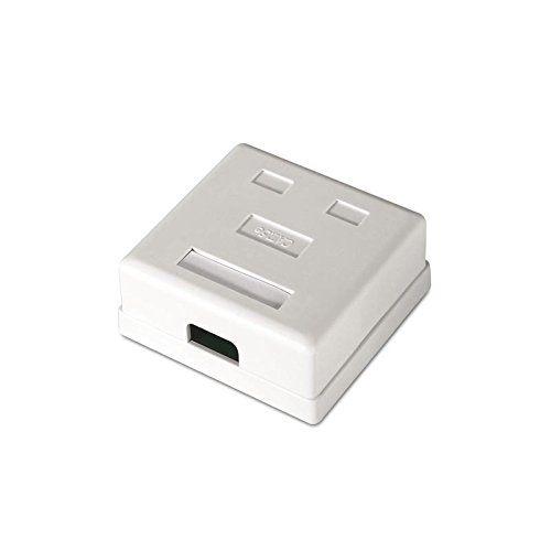Caja de superficie de 2 RJ45 Cat 5e UTP  Blanco