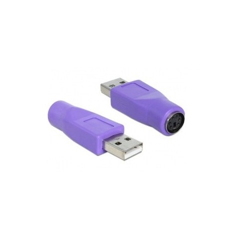 Adaptador PS2 a USB M/H  Morado