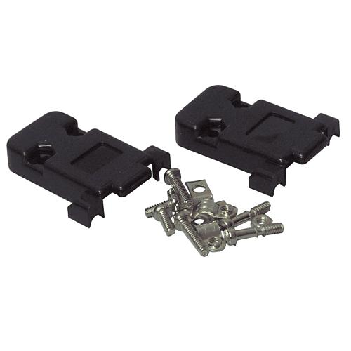 Carcasa sub-d para conector 9 pin  Negro