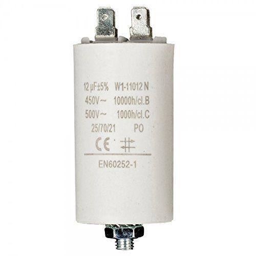Condensador de arranque para motor electrico 3.0 uF 450 VAC Cablepelado