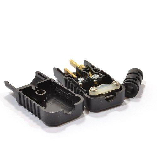Conector alimentacion C13 macho  Negro 10 A