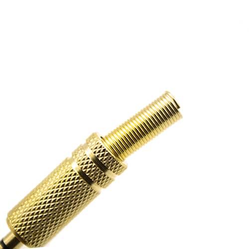 Conector audio jack 4 pines macho 3.5 mm estereo  Dorado