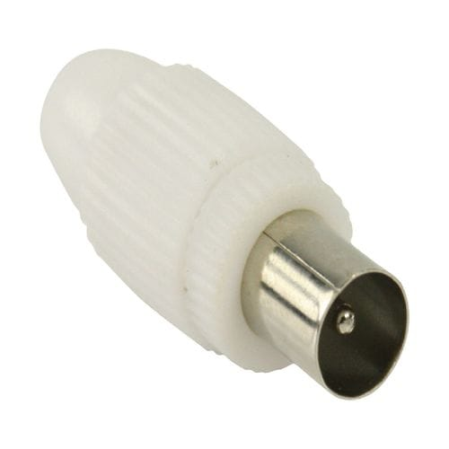 Conector  CEI Macho recto 7mm  Blanco