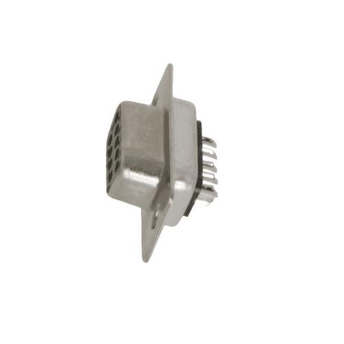 Conector D-sub 9 pin hembra de soldadura  Gris