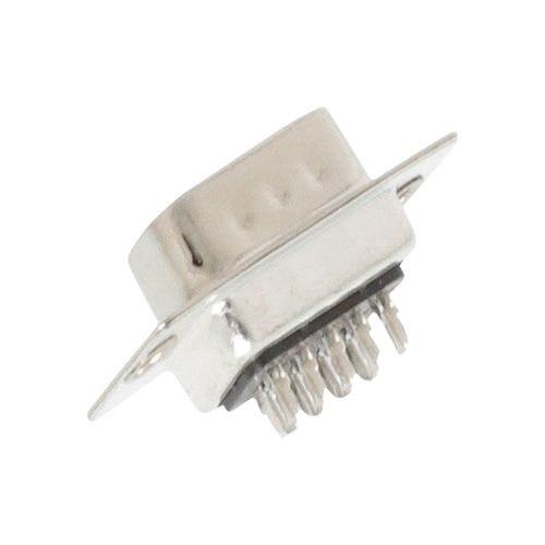 Conector D-sub 9 pin macho de soldadura  Gris