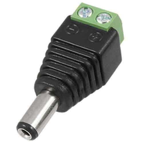 Conector DC macho 5.5x2.1mm  Negro