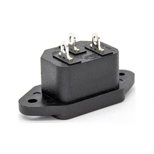 Conector de alimentacion C14 AC macho  Negro 10 A