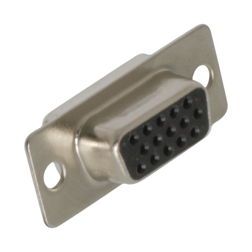 Conector VGA hembra de soldadura  Gris