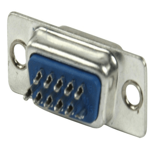 Conector VGA macho de soldadura  Gris