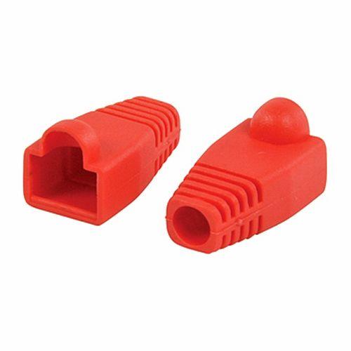 Funda para conector de red RJ45 (10ud/bolsa)  Rojo