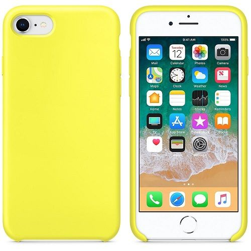 37c9bb0bef9 Funda silicona iphone 7/8 con logo Amarillo