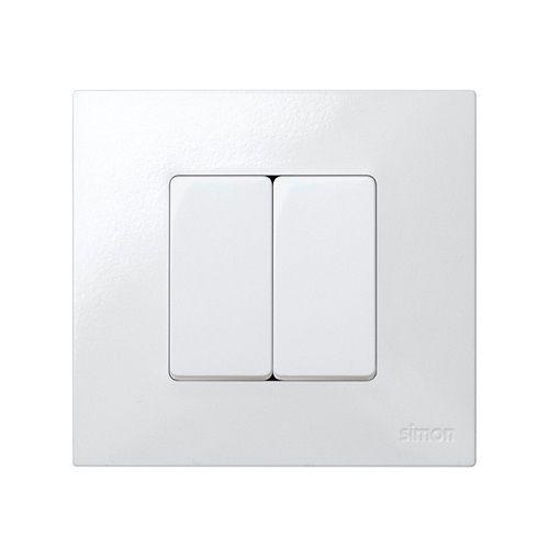 Interruptor estrecho unipolar Simon 27 Play 10 A  Blanco 10 A