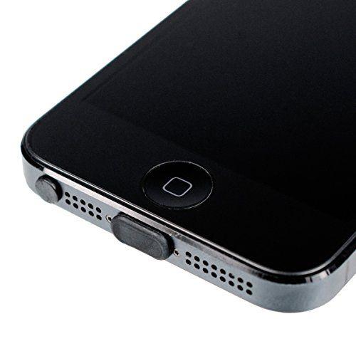 Kit tapon anti-polvo para Apple iPhone  Negro