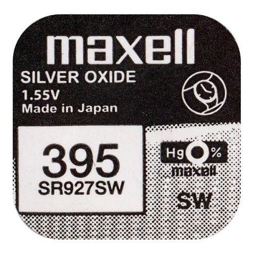 Pila maxell de boton oxido plata 395 SR927SW