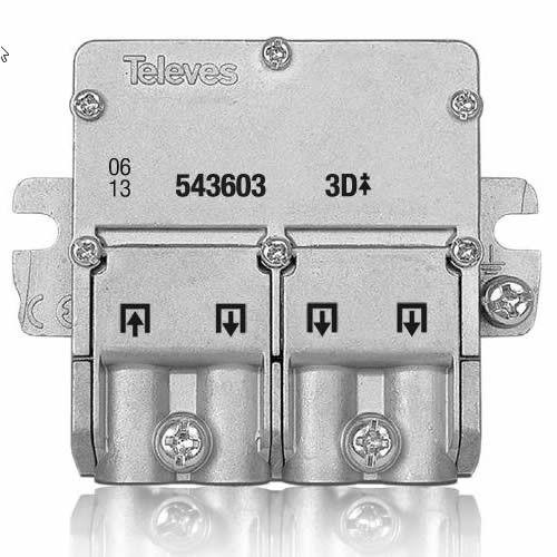 Repartidor distribuidor 3 salidas 8.5/7.5 dB  Gris
