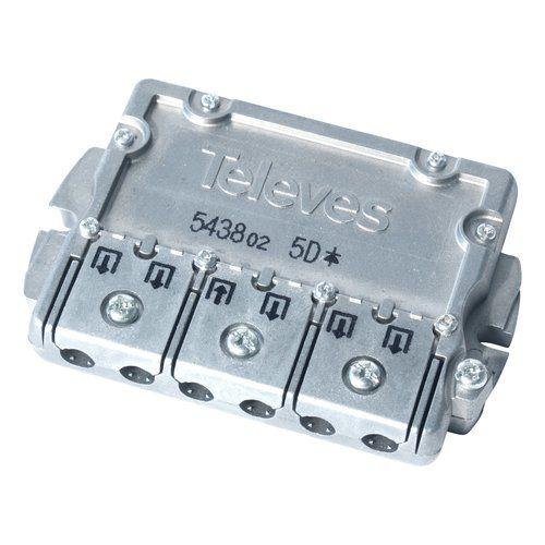 Repartidor distribuidor 5 direcciones 10/9.5 dB  Gris