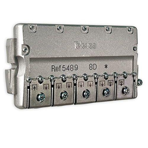 Repartidor distribuidor 8 direcciones 14/16 dB  Gris