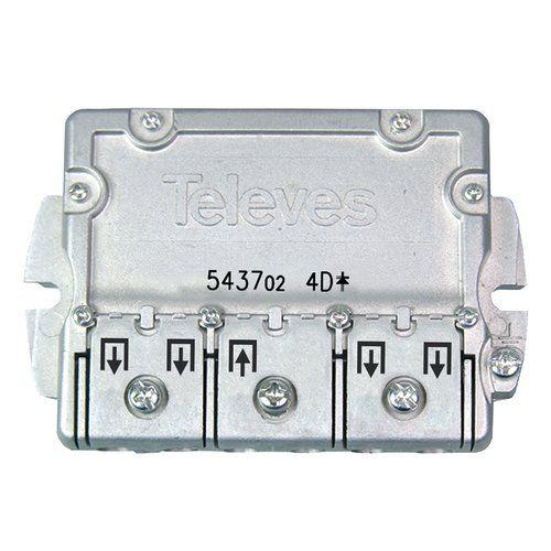 Repartidor interior 4 direcciones 9/7.5 dB  Gris