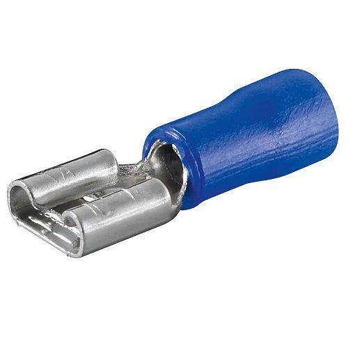Terminal Faston Hembra (6.4mm) 100 Pack  Azul