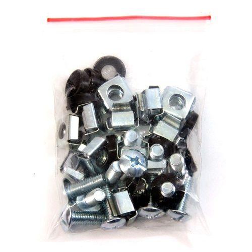 Tornilleria M6 para rack 20 unidades tornillo  Gris